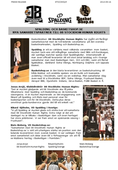 08 Sthlm - Spalding - Basketshop_se - Press release 2014