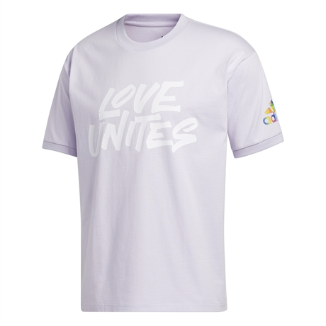 Adidas Pride United Tee Purple Tint