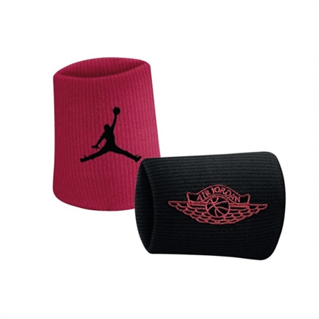 Jordan Wings Wristband Röd/Svart 2-pack