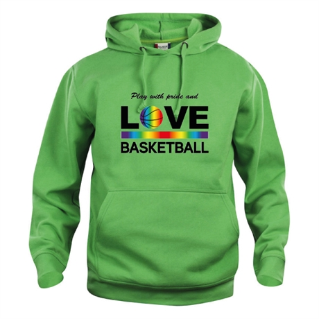 Play With Pride And Love Basketball Hoody Apple Green