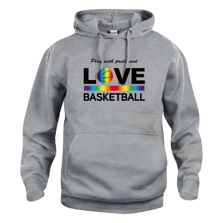 Play With Pride And Love Basketball Hoody Grå