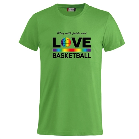 Play With Pride And Love Basketball Tee Apple Green