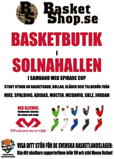 Basketshop i Solnahallen under Spirare Basket Cup 2015