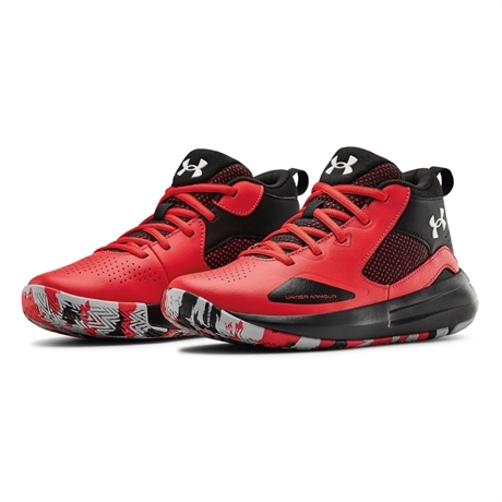Under Armour Lockdown 5 Jr Röd