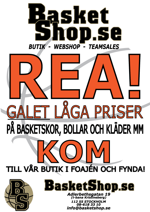 Basketshop.se REA i Fryshuset 9-10 april