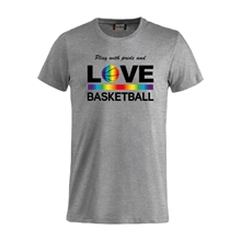 Play With Pride And Love Basketball Tee